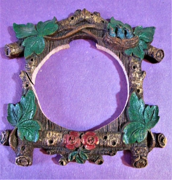 1 Small Cuckoo Clock Frame Reproduction in Cast Resin for your Clock Projects - Steampunk Art - Framing and Etc..Stk#939