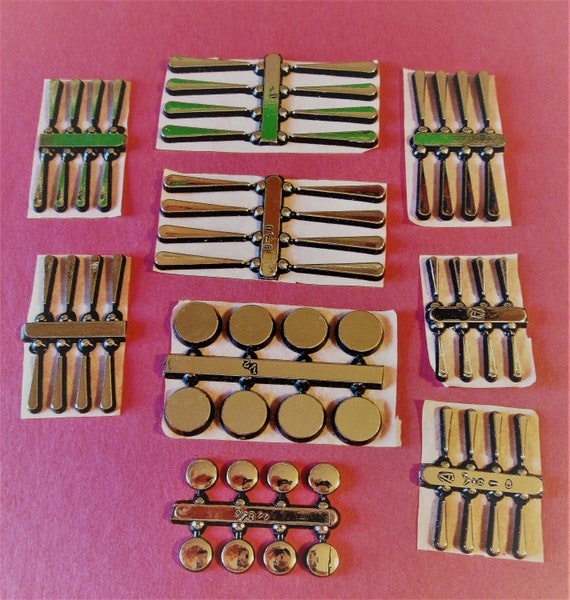 9 Sets of Shiny Gold Thick Plastic Press On Clock Dial Accents for your Clock Projects, Steampunk Art, Altered Art