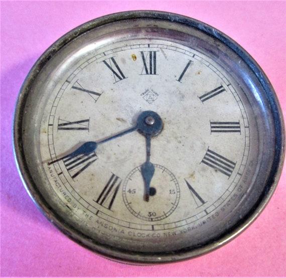 "Small 2 1/8"" Antique Ansonia Clock for Repair/Parts Stk#138"