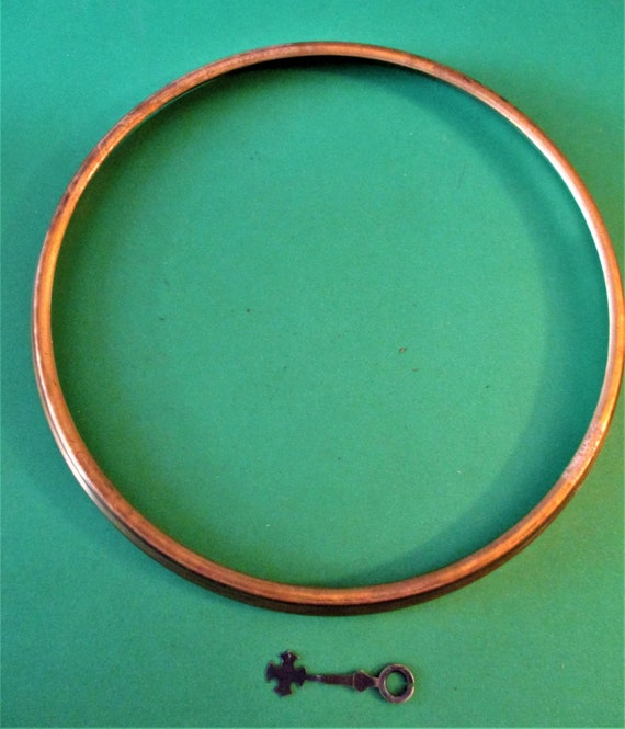 """7"""" Wide Solid Pressed Brass Clock Front Bezel (No Glass) for your Clock Projects - Art - Stk # 278"""