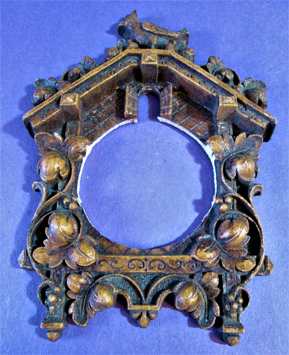 1 Small Cuckoo Clock Frame Reproduction in Cast Resin for your Clock Projects - Steampunk Art - Framing and Etc..Stk#940