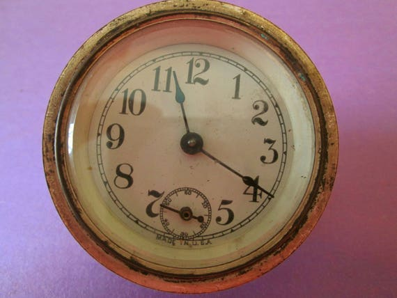 Small Antique US Made Partial Clock for your Clok Projects, Steampunk Art and Etc...