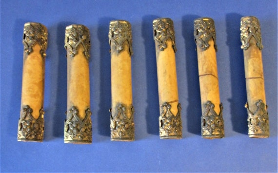 Set of 6 Original Antique Mantle Clock Columns for your Clock Projects and Etc.Stk#531