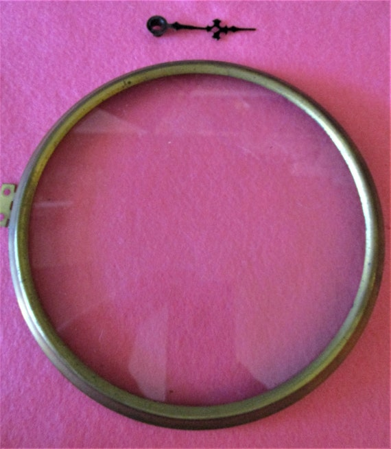 """6"""" Solid Brass Front Clock Bezel with Flat Glass for your Clock Projects - Art - Stk# 846"""
