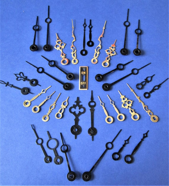 17 Pairs of Assorted Small Vintage Clock Hands for your Clock Projects, Steampunk Art, Jewelry Making and Etc Stk#75...