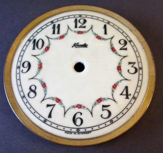 "4"" Vintage German Porcelain Anniversary Clock Dial for your Clock Projects, Steampunk Art..."