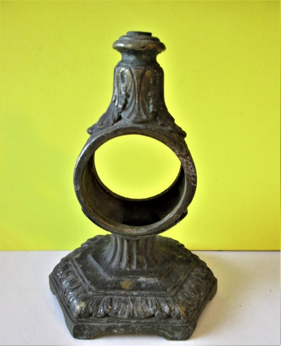 """1 Old and Worn Cast Bronze 6 3/4"""" Tall Clock Case for your Clock Projects - Steampunk Art & Etc."""
