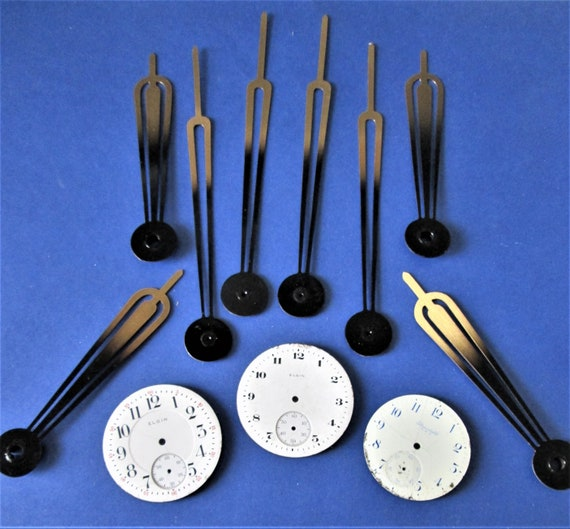 4 Pairs of Vintage Solid Brass 2 Tone Design Clock Hands for your Clock Projects, Jewelry Making, Steampunk Art and Etc.Stk#821