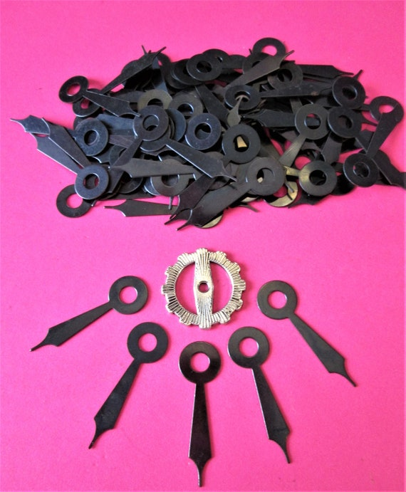 "96 Vintage Black Steel Clock Hour Hands 1 1/8"" for your Clock Projects, Steampunk Art and Etc.Stk#212"