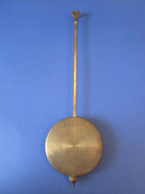 """9 1/2"""" Long Vintage Brass Plated Clock Pendulum With 2 3/4"""" Bob for your Clock Projects - Steampunk Art - Metelworking"""