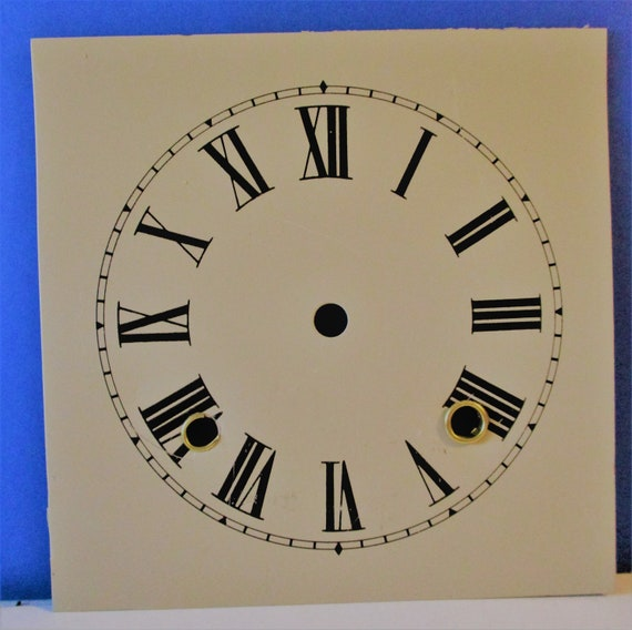 """6 3/4"""" Light Tan Heavy Steel Clock Dial for your Clock Projects - Art Stk# 146"""