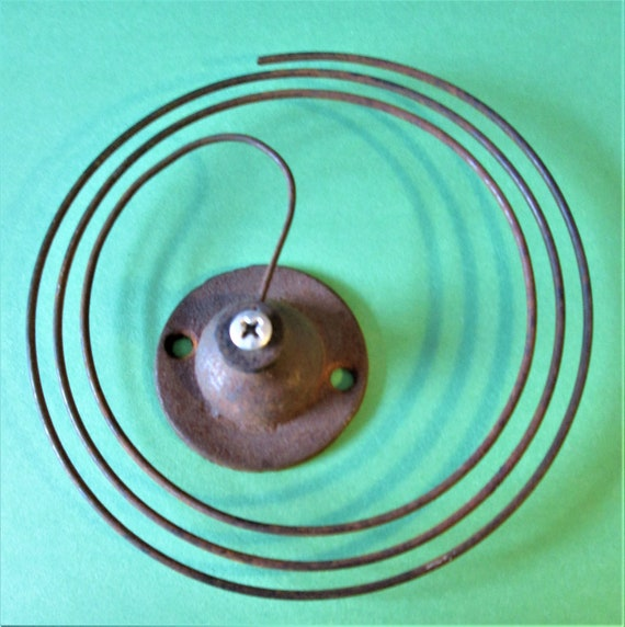 Antique Rusty & Dusty Clock Gong Assembly  for your Clock Projects and Etc..Stk#H66