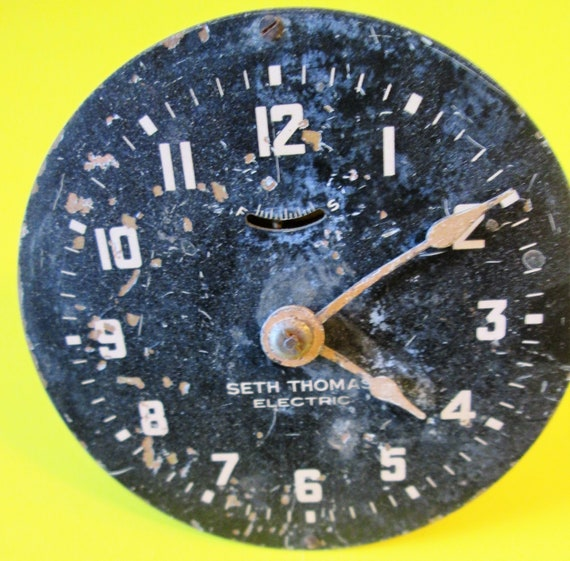 "Nice Old Partial 3"" Seth Thomas Electric Clock for your Clock Projects, Steampunk Art, Altered Art and Etc..."