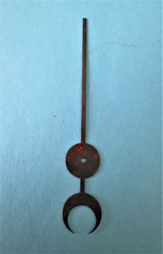 "1 Vintage Dark Grey Steel 3 1/2"" Moon Style Calendar Clock Hand for your Clock Projects, Steampunk Art Stk#675"