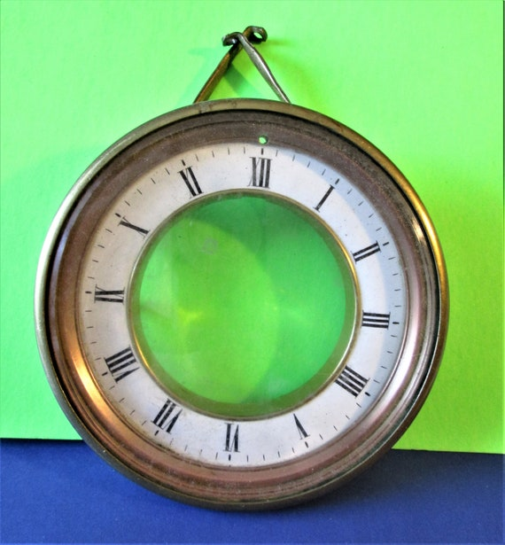 Antique Roman Style Brass & Copper with Glass Dial Assembly for your Clock Projects - Art  Stk# 430