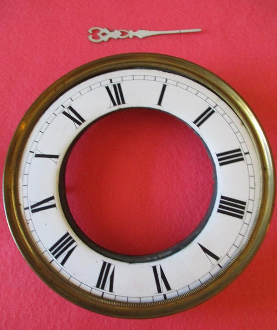 """5 3/4"""" Vienna Style Solid Brass and Porcelain Clock Dial for your Clock Projects - Art - Stk# 100"""