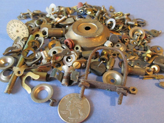 Steampunkers Lot of Vintage Clock Parts and Pieces for your Clock Projects, Steampunk Art, Jewelry Making and Etc..