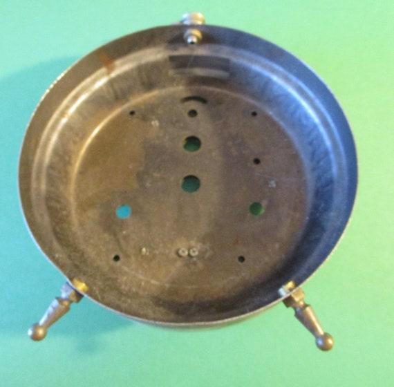 "Large Vintage 5 1/4"" Wide Standing Alarm Clock Case - Sturdy Steel"