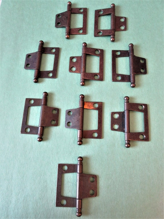 10 Vintage Bronze Look Steel Furniture Hinges for your Furniture Projects, Steampunk Art and Etc..