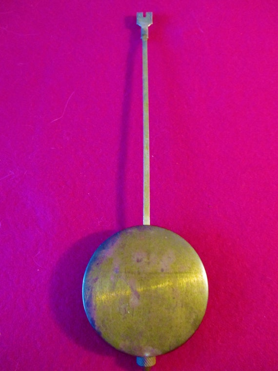 """9 1/2"""" Tall 2 Ounce Old and Tarnished Brass & Steel Pendulum for your Clock Projects - Stk# 800"""