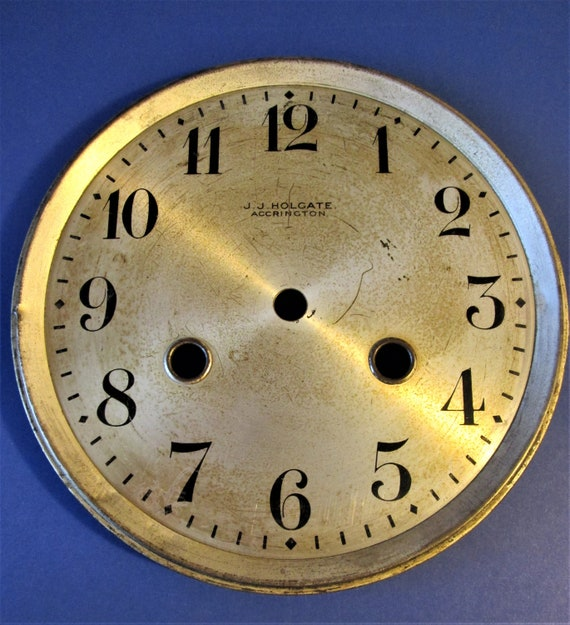 """Old and Worn Vintage 6"""" J.J. Holgate Clock Dial for your Clock Projects, Steampunk Art...Stk#621"""