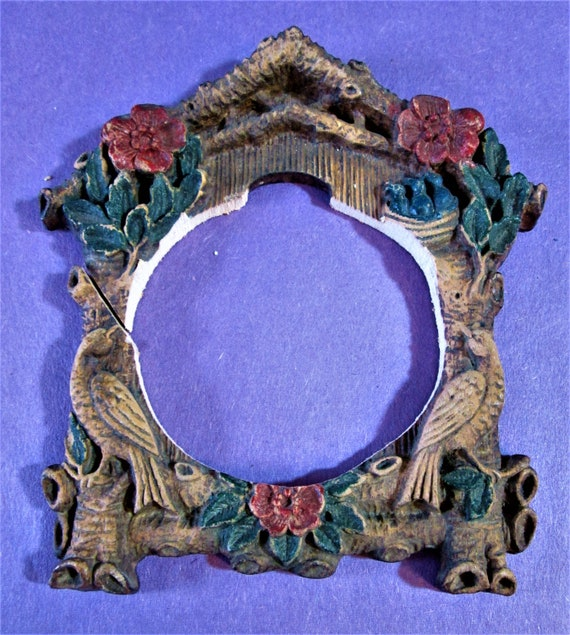 1 Small Cuckoo Clock Frame Reproduction in Cast Resin for your Clock Projects - Steampunk Art - Framing and Etc..Stk#937