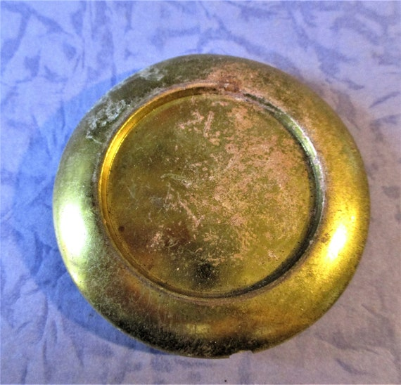 """2 3/8"""" Wide Hollow Brass and Steel Pendulum Bob for Your Clock Projects - Art -  Stk# 538"""