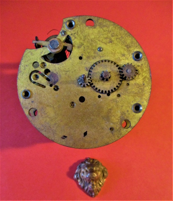 Small Antique Partial Clock for Repair/Parts - Steampunk Art -  Stock# 639