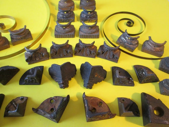30 Assorted Original Antique Mantle Cast Metal Clock Feet for your Clock Projects - Steampunk Art - Metalwork