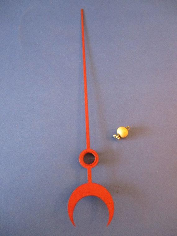 """7 5/8"""" Red Painted Steel Calendar Clock Hand  Stk# 09"""