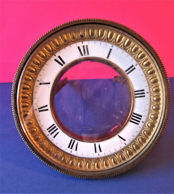 Antique Fancy Roman Style Pressed Brass & Copper with Beveled Glass Dial Assembly for your Clock Projects - Art  Stk# 428