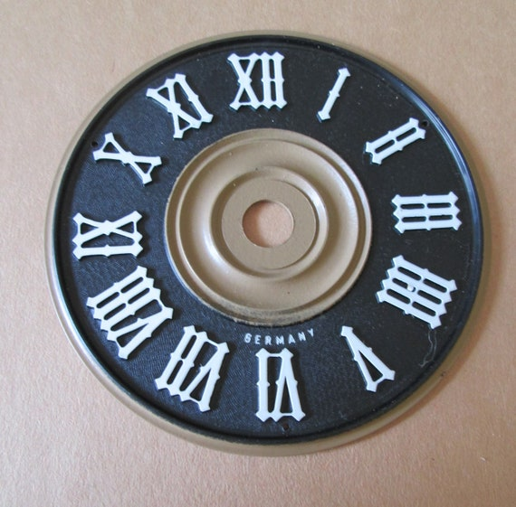 """2 3/4"""" New Black Plastic with Paper Roman Numerals Dial for your Cuckoo Projects - Art"""