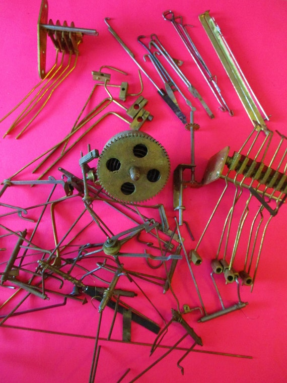 Lot of Assorted Antique & Vintage Solid Brass and Steel Clock Parts for your Clock Projects - Art -  Stk# 335