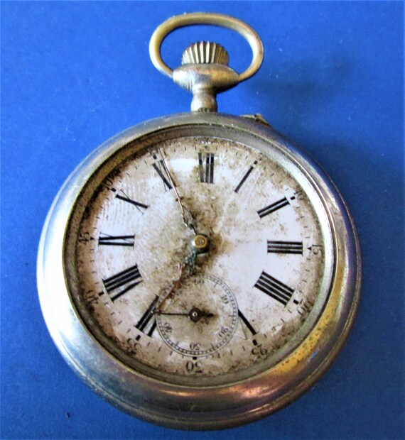 1 Partial Antique French Made Pocket Watch for Repairs/Parts -For your Watch Projects - Steampunk Art - Etc..Stk# W43