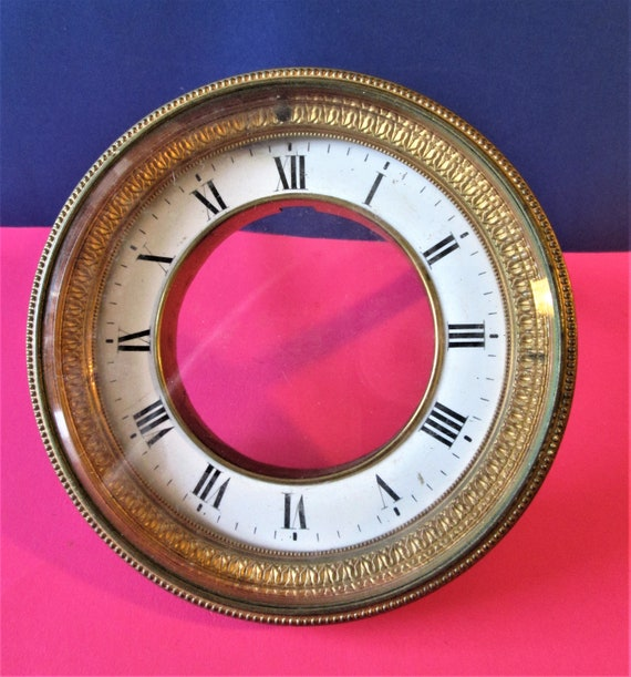 Antique Fancy Roman Style Pressed Brass & Copper with Beveled Glass Dial Assembly for your Clock Projects - Art  Stk# 427