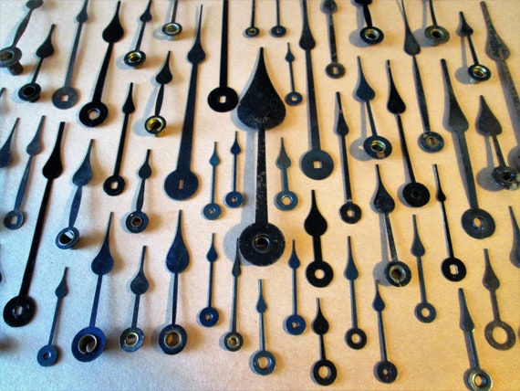60 Assorted Vintage Steel Spade Design Clock Hands for your Clock Projects - Jewelry Making - Steampunk Art - Crafts & Etc.....
