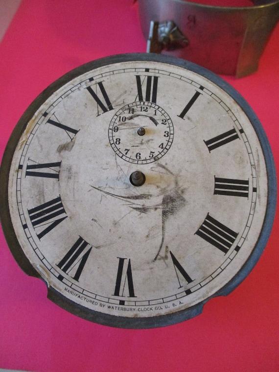 Partial Antique Waterbury Alarm Clock for Repair/Parts