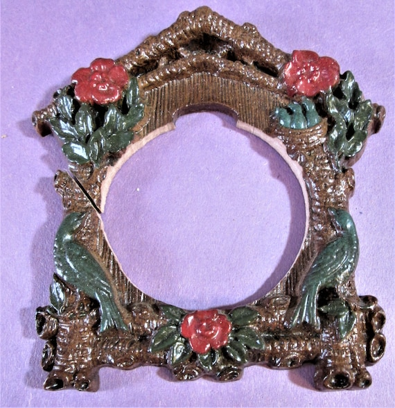 1 Small Cuckoo Clock Frame Reproduction in Cast Resin for your Clock Projects - Steampunk Art - Framing and Etc..Stk#938