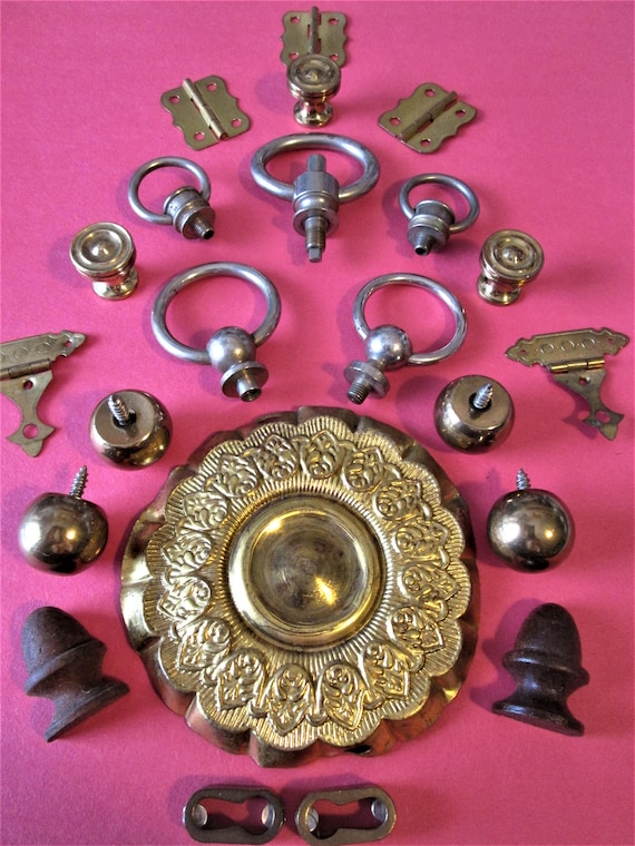 Nice Lot of Assorted Vintage Furniture Accents for your Furniture Projects - Steampunk Art and Etc.Stk#698