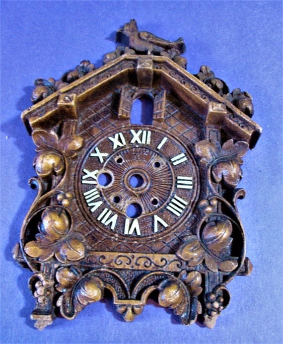 1 Small Cuckoo Clock Frame Reproduction in Cast Resin for your Clock Projects - Steampunk Art - Framing and Etc..Stk#941