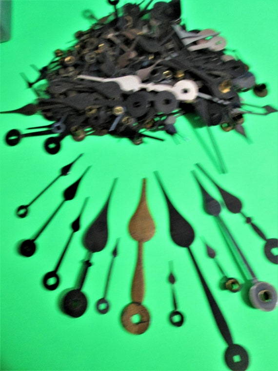 1/2 Pound of Old Steel Spade Design Clock Hands for your Clock Projects - Steampunk Art & Etc.Stk#631
