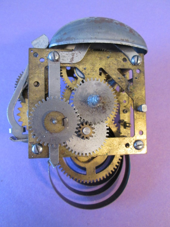 Vintage Partial Bell Alarm Clock Works for your Clock Projects, Steampunk Art, Altered Art and Etc...