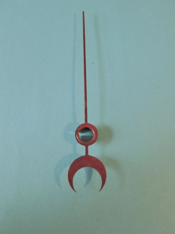 """4 7/8"""" Dark Red Painted Steel Calander Clock Hand for your Clock Projects and Etc.Stk # 613"""