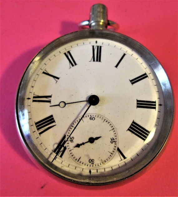 1 Vintage Partial Pocket Watch for Repairs or Parts  Stk# W26