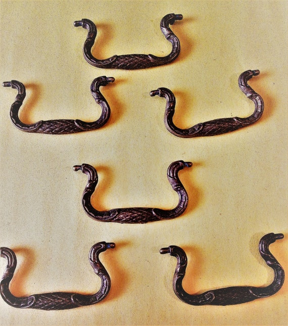 "6  3"" Solid Brass Cast Furniture Drawer Pulls for your Furniture Projects - Steampunk Art and Etc.."
