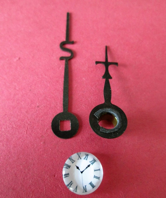 1 Pair of Small Seth Thomas Mantle Clock Hands for your Clock Projects - Jewelry Making - Steampunk Art - Crafts & Etc.....