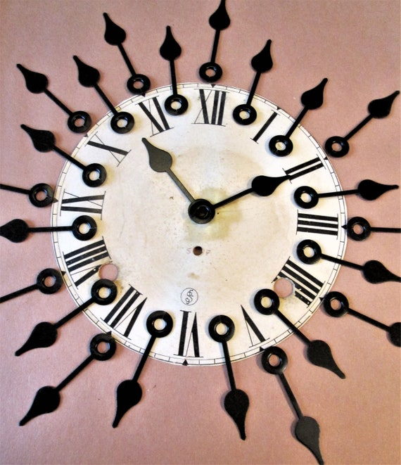 "24 Vintage 2"" Black Steel Spade Design Hour hands for your Clock Projects, Jewelry Making, Steampunk Art, Crafts  Etc...."
