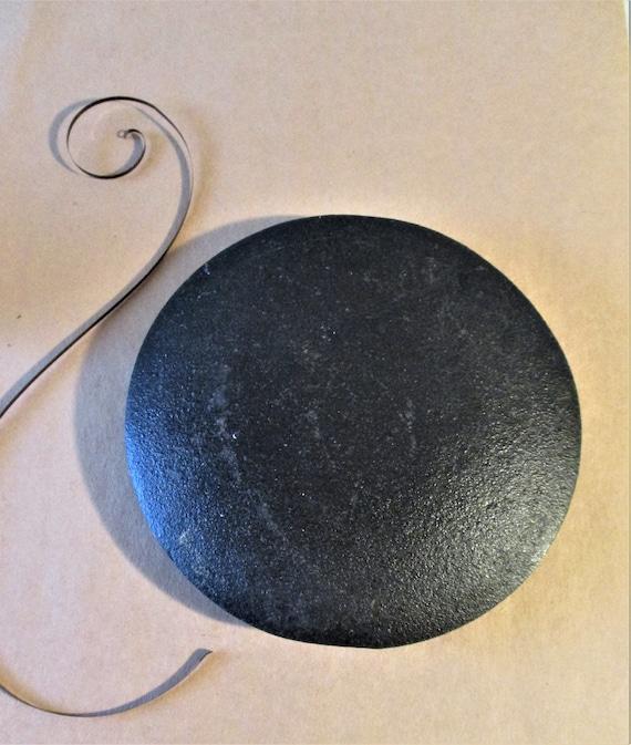 "Large 2 Pound 4 3/4"" Wide Grandfather / Tall Case Clock Cast Metal Pendulum Bob Stk# 709"