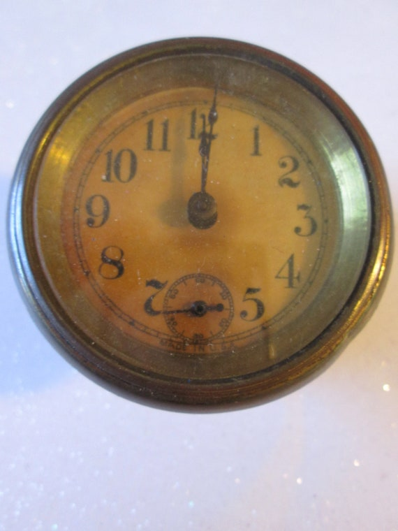 """Small 2 1/4"""" Vintage American Partial Clock for your Clock Projects - Repair - Parts - Steampunk Art  Stk# 488"""