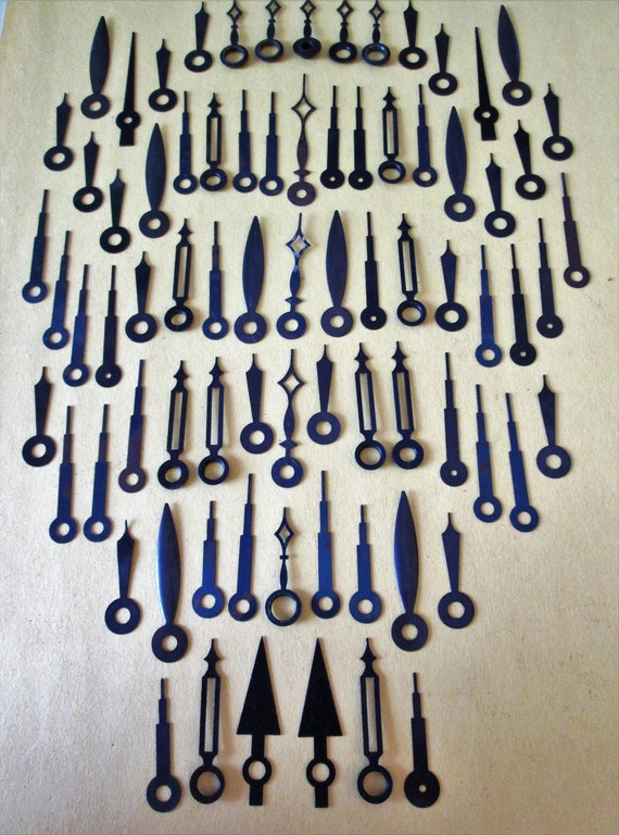 77 Assorted Small Vintage Steel Clock Hands for your Clock Projects, Jewelry Crafts, Steampunk Art